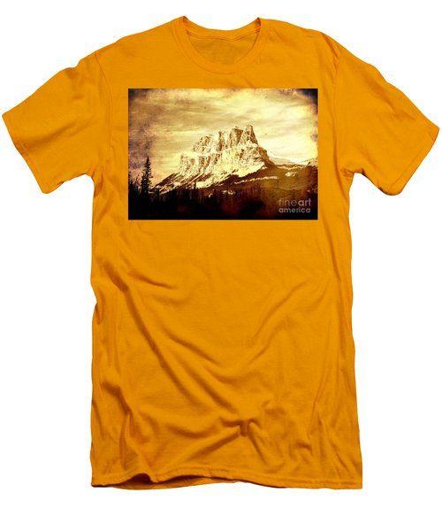 Castle Mountain Men's T-Shirt (Slim Fit) by Alyce Taylor