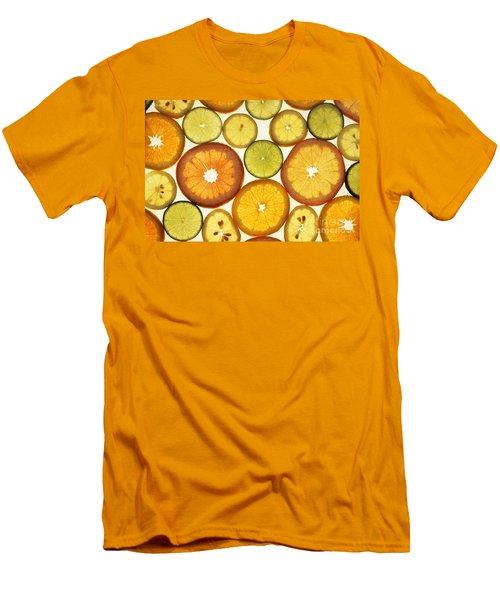 Citrus Slices Men's T-Shirt (Slim Fit) by Photo Researchers
