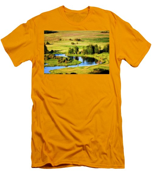 Clark Fork Delta  Men's T-Shirt (Slim Fit) by Albert Seger