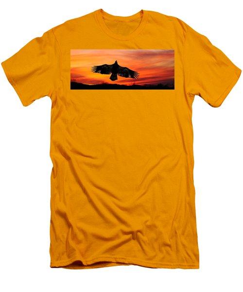 Men's T-Shirt (Slim Fit) featuring the photograph Juvenile Sunset  by Randall Branham