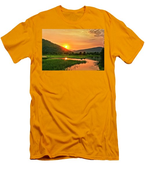 Pack River Delta Sunset Men's T-Shirt (Slim Fit) by Albert Seger