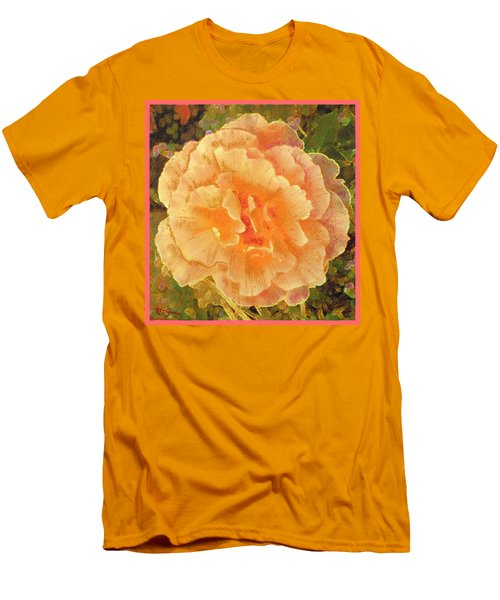 Peach Begonia Men's T-Shirt (Athletic Fit)