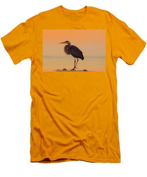 Resting Heron Men's T-Shirt (Athletic Fit)