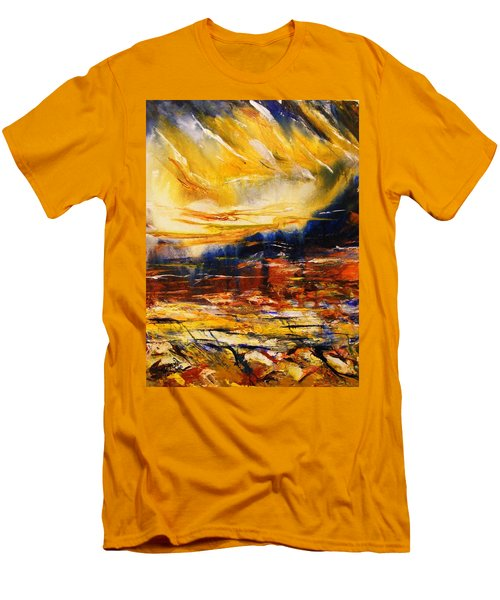 Sedona Sky Men's T-Shirt (Slim Fit) by Karen  Ferrand Carroll