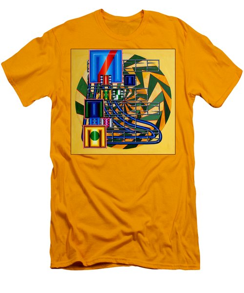 Men's T-Shirt (Slim Fit) featuring the painting Sendintank by Mark Howard Jones