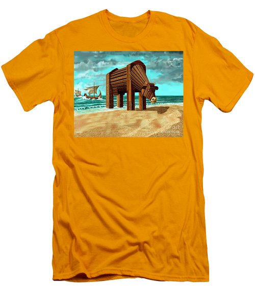 Trojan Cow Men's T-Shirt (Athletic Fit)