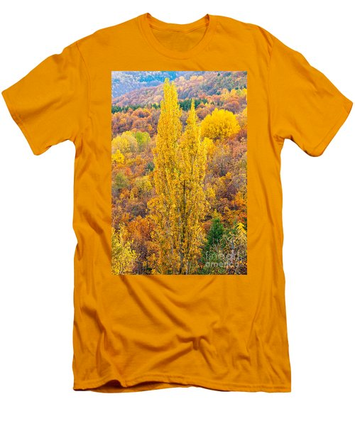 Men's T-Shirt (Slim Fit) featuring the photograph Tuscany Landscape  by Luciano Mortula