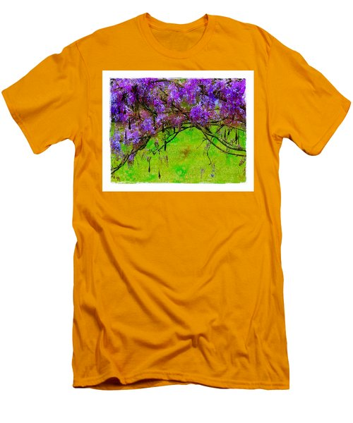 Men's T-Shirt (Slim Fit) featuring the photograph Wisteria Bower by Judi Bagwell