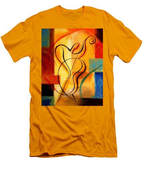 Jazz Fusion Men's T-Shirt (Slim Fit) by Leon Zernitsky