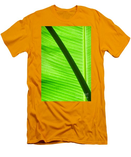 Men's T-Shirt (Slim Fit) featuring the photograph Abstract Banana Leaf by Yurix Sardinelly