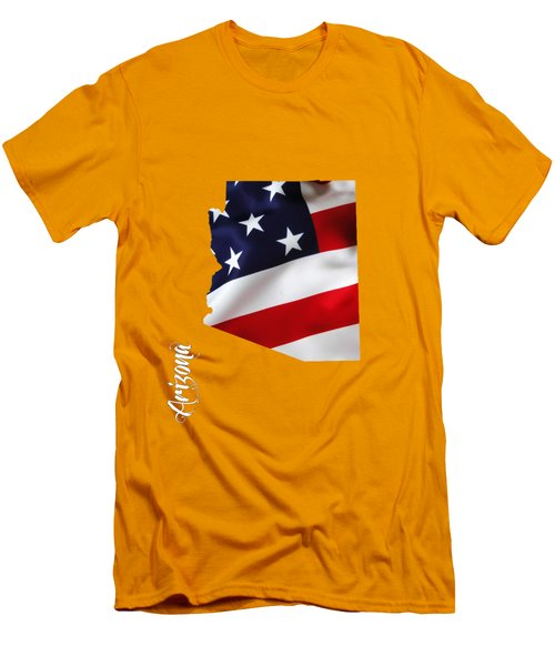 Arizona State Map Collection Men's T-Shirt (Athletic Fit)
