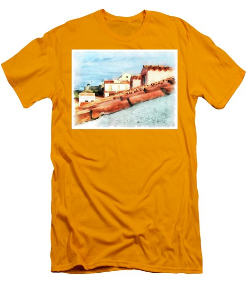Arzachena Roof And Church Men's T-Shirt (Athletic Fit)