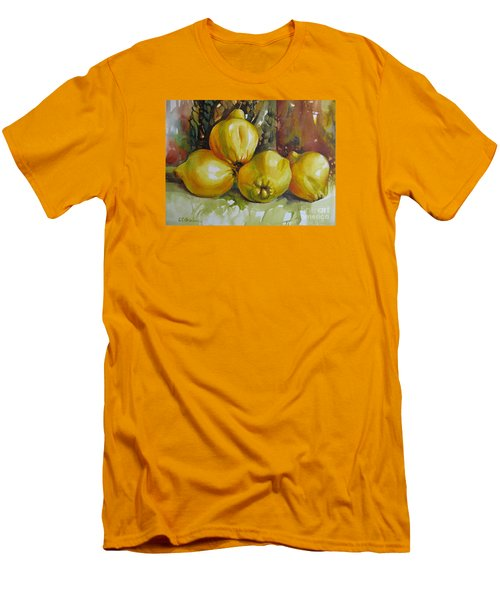 Men's T-Shirt (Slim Fit) featuring the painting Autumn Harmony by Elena Oleniuc