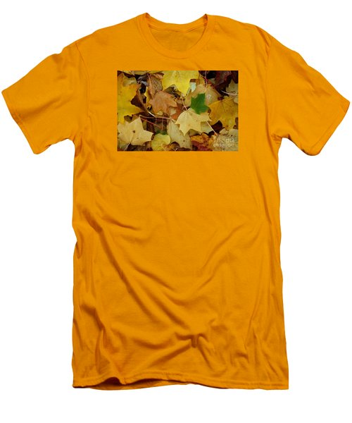 Autumn Leaves  Men's T-Shirt (Slim Fit) by Gary Bridger