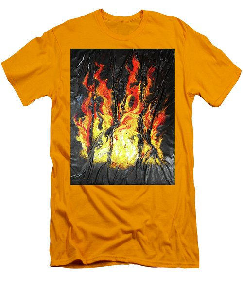 Fire Too Men's T-Shirt (Slim Fit) by Angela Stout