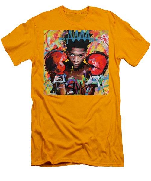 Jean Michel Basquiat Men's T-Shirt (Slim Fit) by Richard Day