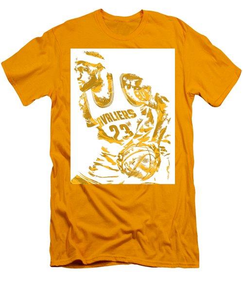 Lebron James Cleveland Cavaliers Pixel Art 7 Men's T-Shirt (Athletic Fit)