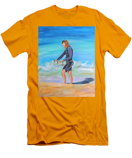 Men's T-Shirt (Slim Fit) featuring the painting Noah by Patricia Piffath