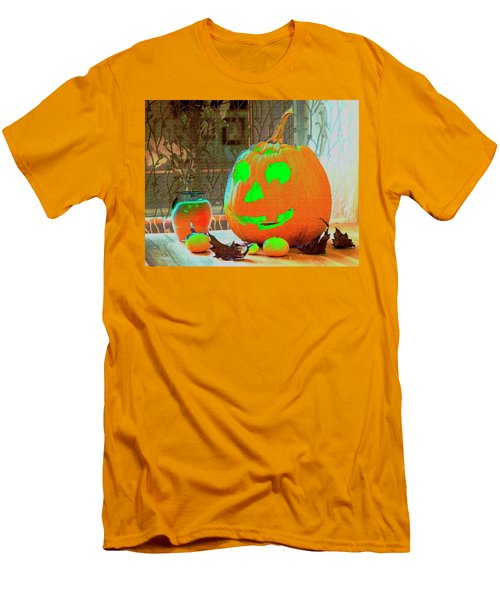 Orange Halloween Decoration Men's T-Shirt (Athletic Fit)
