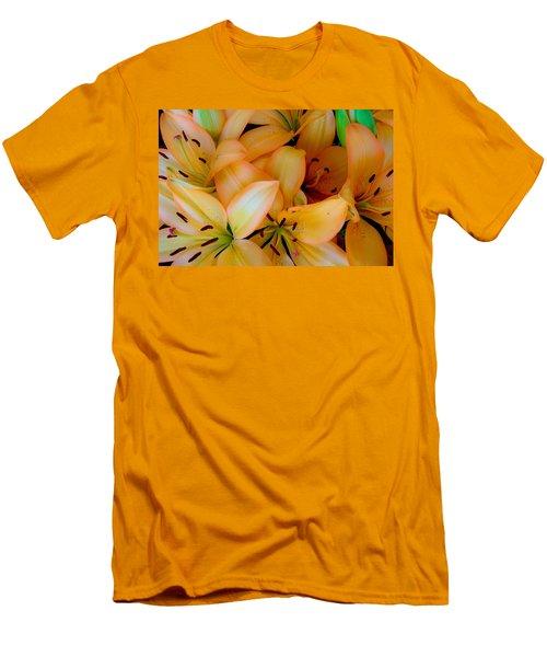 Orange Lilies Men's T-Shirt (Slim Fit) by Mark Barclay