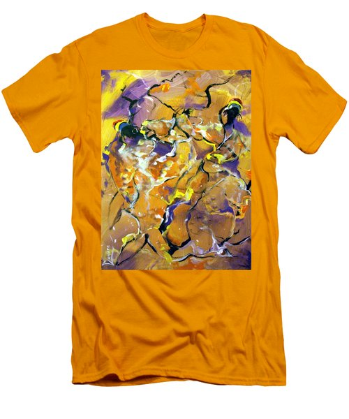 Men's T-Shirt (Slim Fit) featuring the painting Praise Dance by Raymond Doward