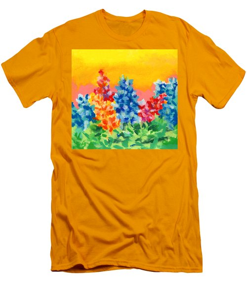 Spring Wildflowers Men's T-Shirt (Slim Fit) by Stephen Anderson