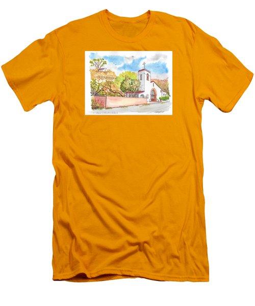 St. Catherine Of Alexandria Catholic Church, Avalon, Santa Catalina Island, Ca Men's T-Shirt (Slim Fit) by Carlos G Groppa