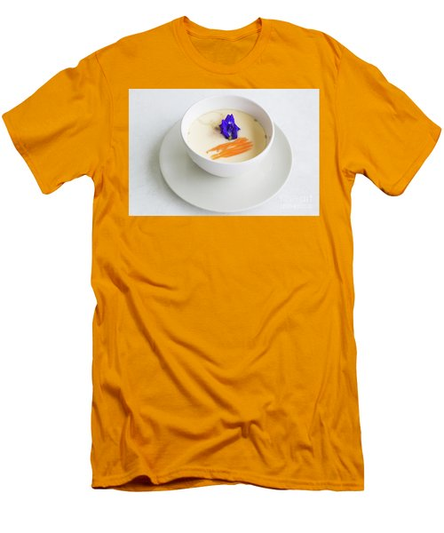 Men's T-Shirt (Slim Fit) featuring the photograph Steamed Egg by Atiketta Sangasaeng