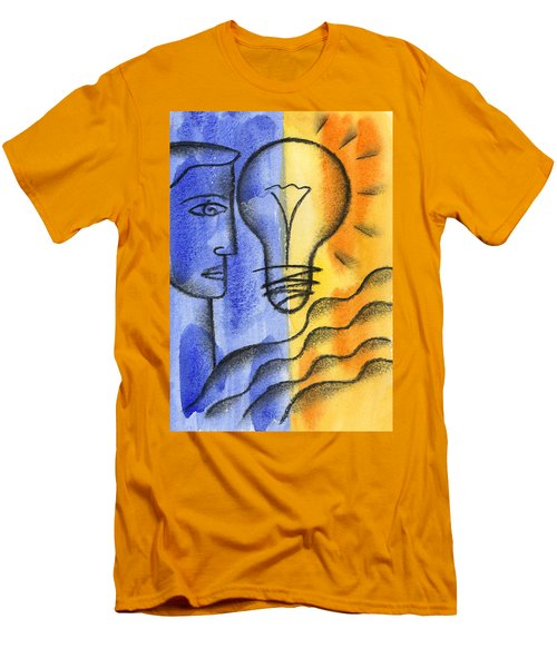 Men's T-Shirt (Slim Fit) featuring the painting Success by Leon Zernitsky