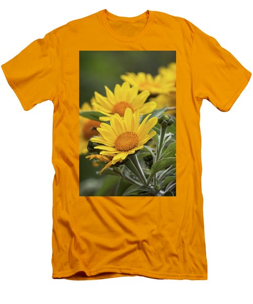 Men's T-Shirt (Slim Fit) featuring the photograph Sunflowers  by Saija Lehtonen