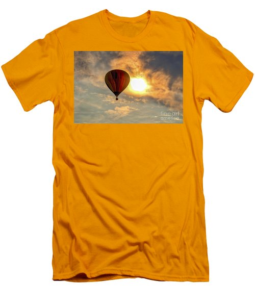 Men's T-Shirt (Slim Fit) featuring the photograph Sunrise Flight by Mitch Shindelbower