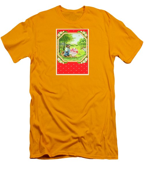 Valentine Delivery Men's T-Shirt (Slim Fit) by Lynn Bywaters