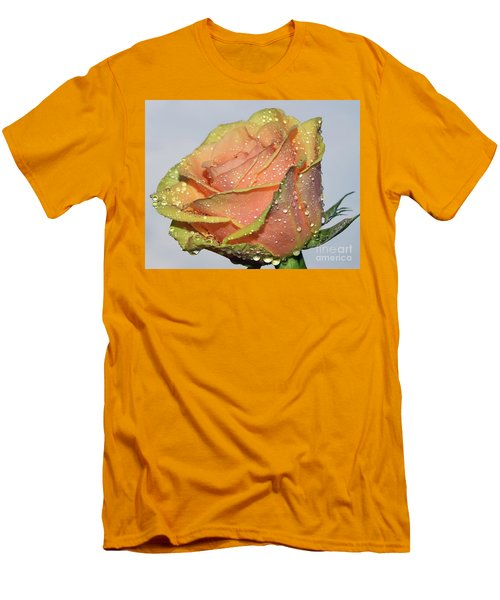 Men's T-Shirt (Slim Fit) featuring the photograph Rose by Elvira Ladocki