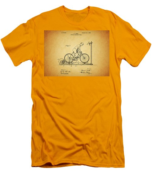 1900 Bicycle Exercise Stand Men's T-Shirt (Slim Fit) by Dan Sproul
