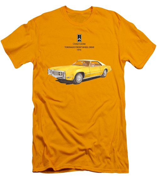 1970 Oldsmobile Toronado Men's T-Shirt (Slim Fit) by Jack Pumphrey
