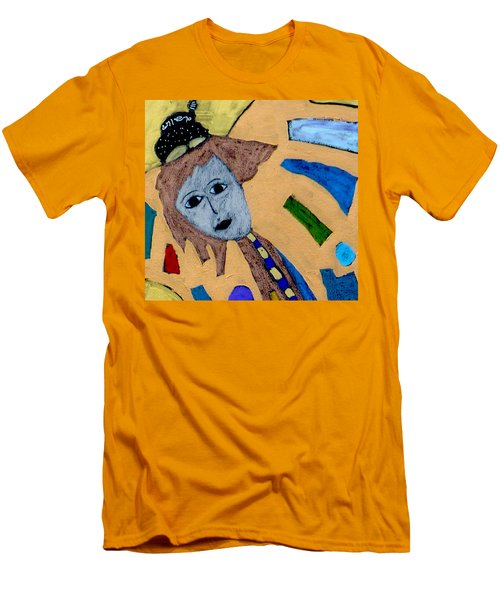 Men's T-Shirt (Athletic Fit) featuring the painting Archangel Metatron by Clarity Artists