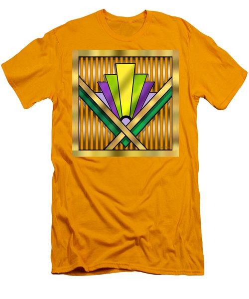 Art Deco 14 Transparent Men's T-Shirt (Slim Fit) by Chuck Staley