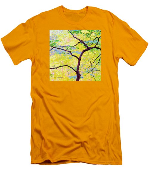 Men's T-Shirt (Slim Fit) featuring the digital art Dogwood Tree In Spring by A Gurmankin