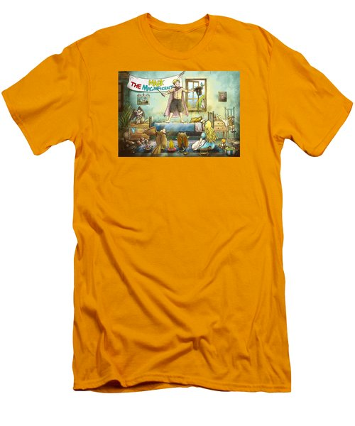 Mark The Magnificent Men's T-Shirt (Slim Fit) by Reynold Jay