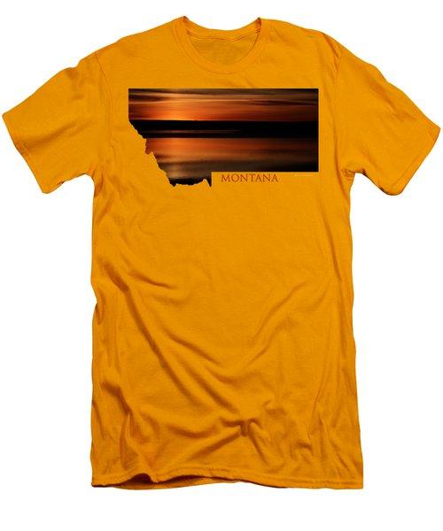 Montana- Sunrise Men's T-Shirt (Athletic Fit)