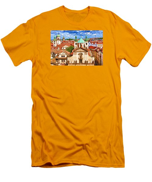 Old Town Prague Men's T-Shirt (Slim Fit) by Dennis Cox WorldViews