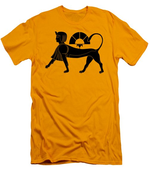 Sphinx - Mythical Creature Of Ancient Egypt Men's T-Shirt (Slim Fit) by Michal Boubin