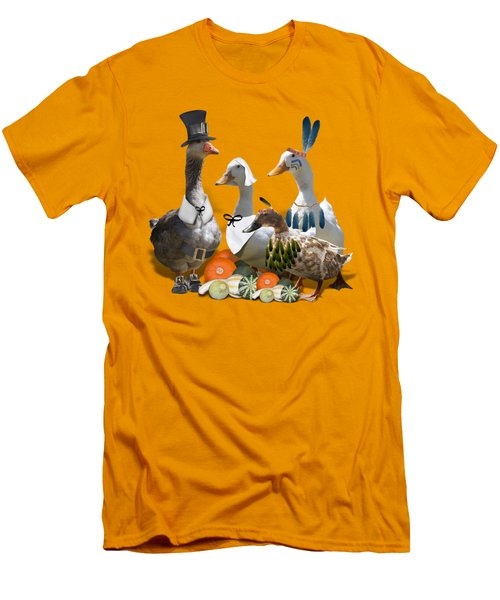 Thanksgiving Ducks Men's T-Shirt (Athletic Fit)
