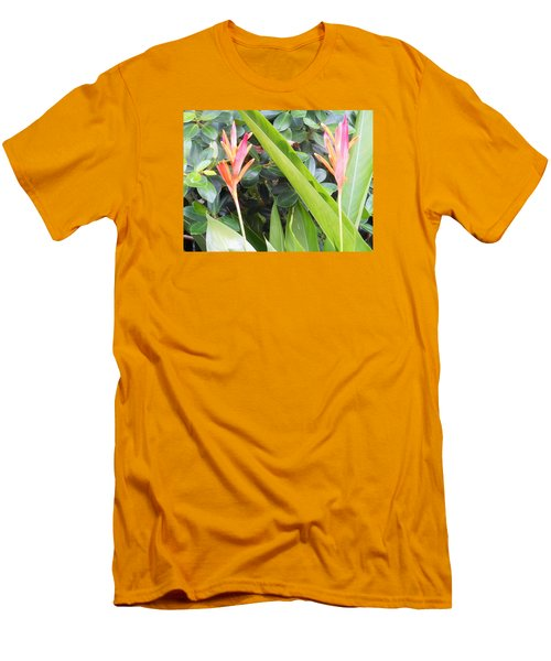Men's T-Shirt (Slim Fit) featuring the photograph Tropical Flowers by Kay Gilley