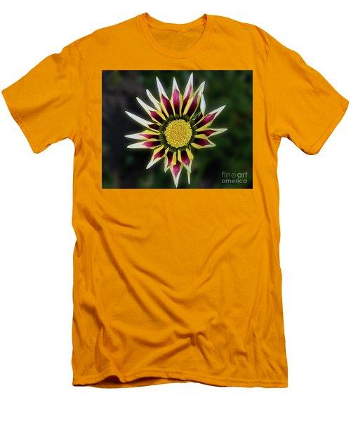 Men's T-Shirt (Slim Fit) featuring the photograph Nice Gazania by Elvira Ladocki