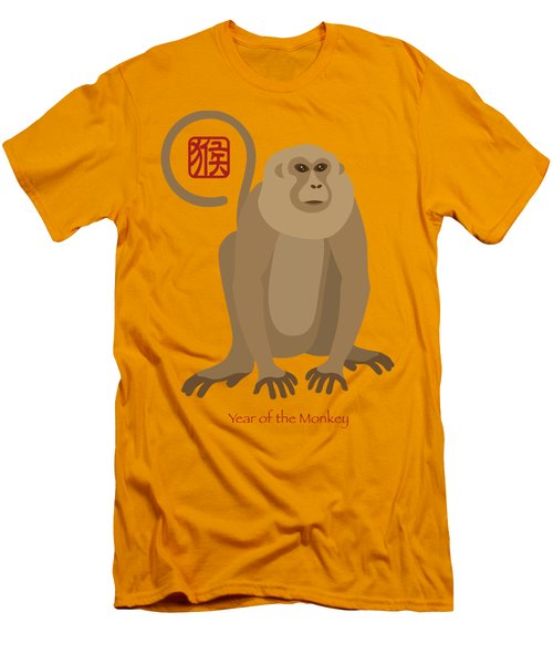 2016 Chinese New Year Of The Monkey Men's T-Shirt (Athletic Fit)