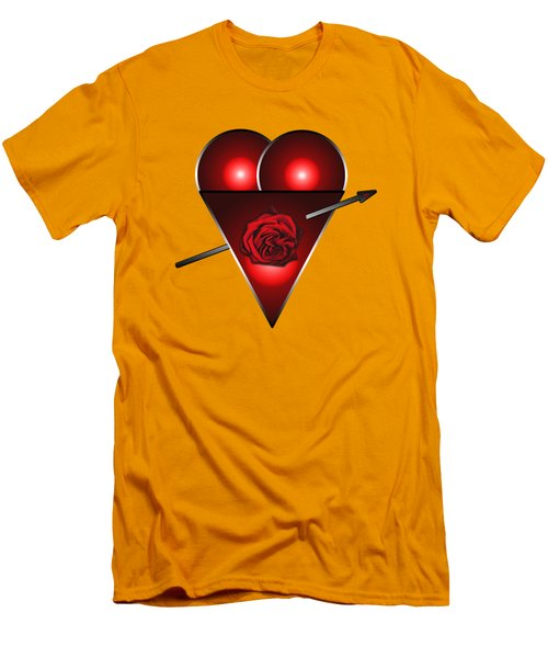 21st Century Love Heart  Men's T-Shirt (Slim Fit) by Tom Conway