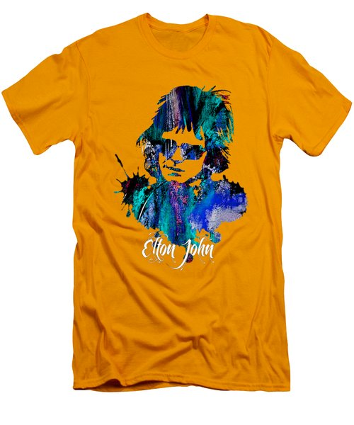 Elton John Collection Men's T-Shirt (Slim Fit) by Marvin Blaine