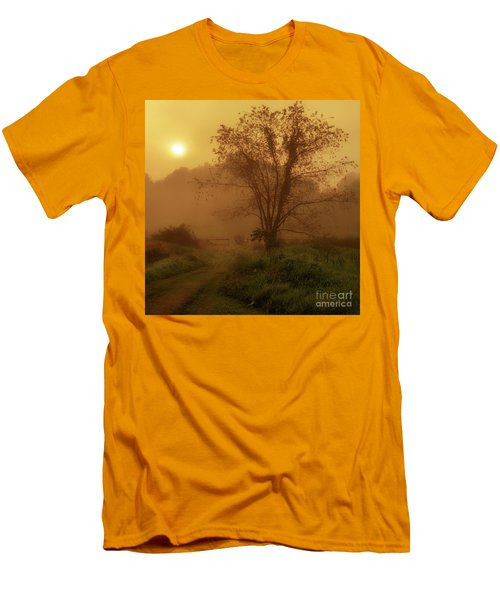 Misty Mountain Sunrise Men's T-Shirt (Slim Fit) by Thomas R Fletcher