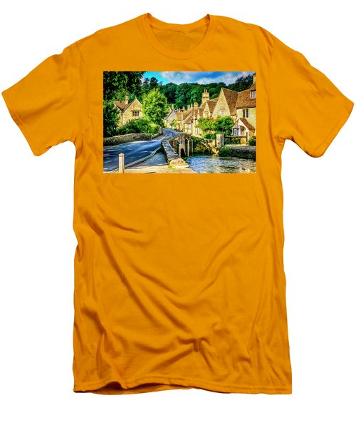 Castle Combe Village, Uk Men's T-Shirt (Athletic Fit)